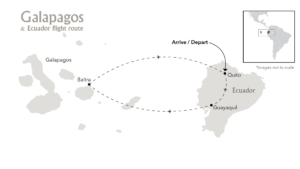 Galapagos & Ecuador Cruises Overview Route