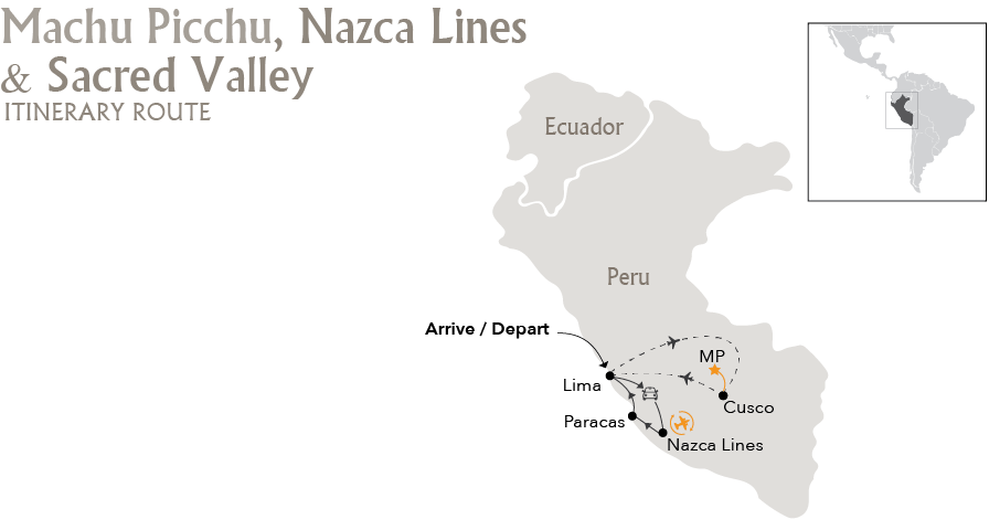 Machu-Picchu-Nazca-Lines-Sacred-Valley-Itinerary-Route