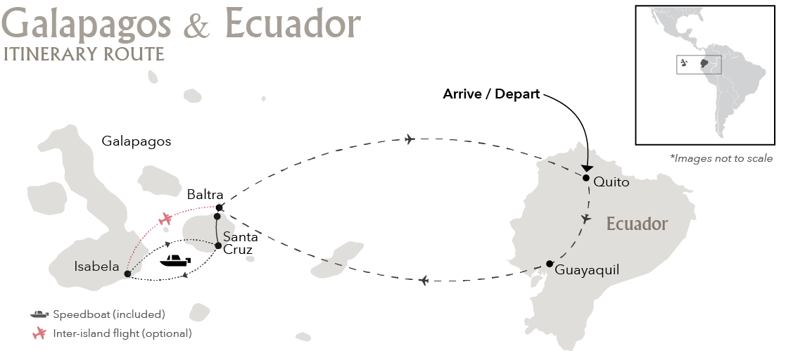 Galapagos Land based Itinerary Route