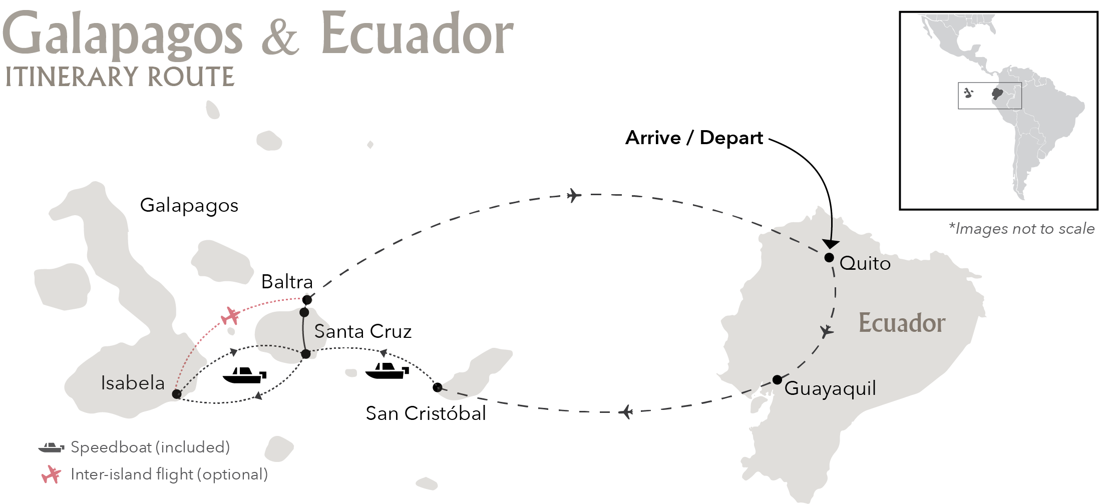 Galapagos Multisport Itinerary Route